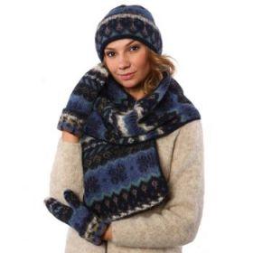 Комплект шапка, шарф, варежки 08133-85
