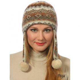 Шапка ушанка женская из шерсти 08414-47